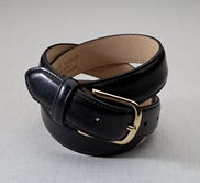 Dress Leather With Brushed Nickle Server Belt