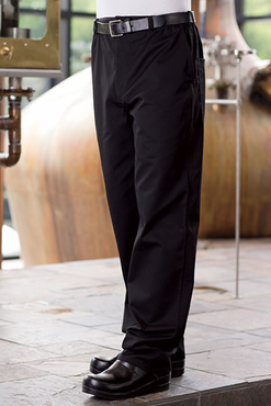 Executive Chef Pants with Belt Loops and Zipper