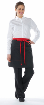Half Bistro Color Blocked Apron with Divided Pockets