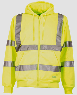 Hi-Visibility Lined Hooded Sweatshirt