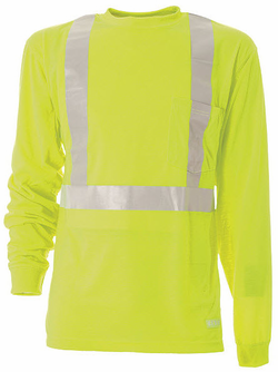 Hi-Visibility Long Sleeve Pocket Tee Long Sleeve