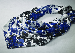Hotel Front Desk Floral Chiffon Polyester Scarf