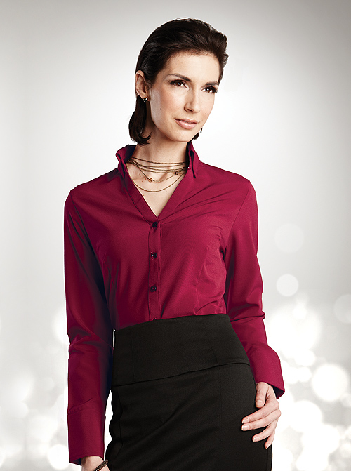 Ladies Fitted Cocktail Blouses Sharperuniforms Com