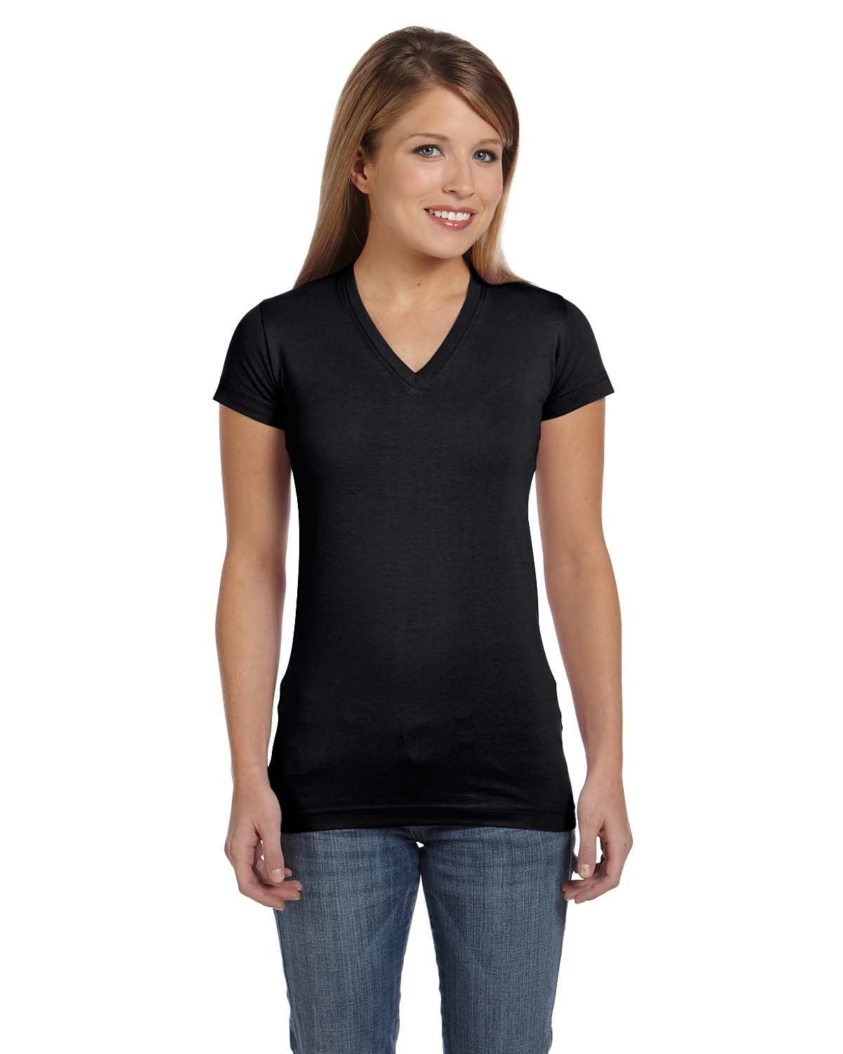 Ladies Junior Fitted V-Neck T-Shirt - Womens Uniforms-4046