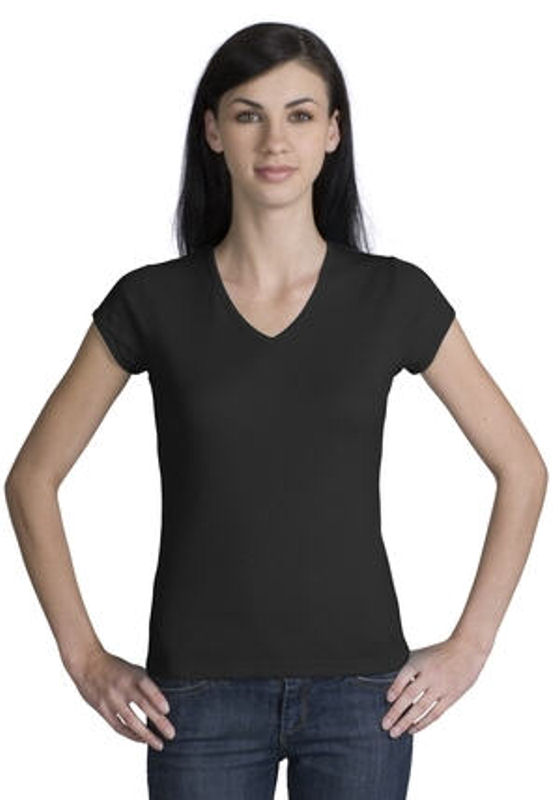 Fitted Tee Shirts for Women – V-Neck – SharperUniforms.com