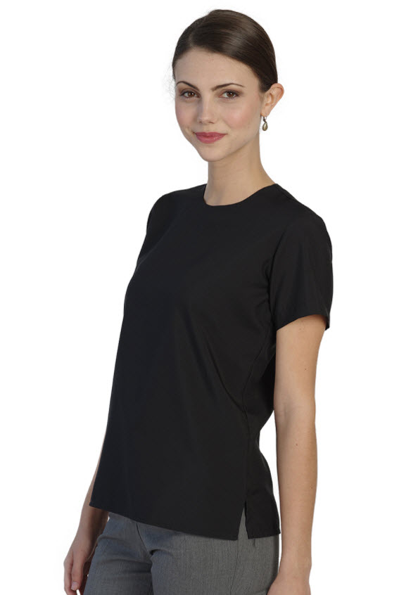Ladies Jewel Neck Blouse|SharperUniforms.com