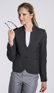 Ladies Hotel Two Button Stand-Up Collar Blazer