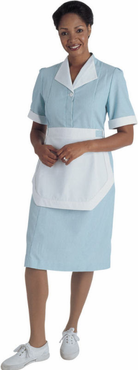 Ladies Junior Cord Housekeeping Dress (Includes Apron Strings for Matching Tea Apron, Apron NOT Included)