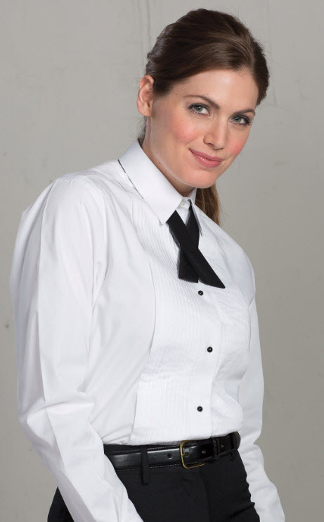 variety design release info on classic style of 2019 Ladies Lay Collar Tuxedo Shirt