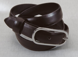 Ladies Leather Server Skinny Belt