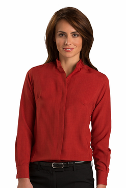 Ladies Mandarin Collar Bistro Server Shirt (Discontinued NOT Returnable)