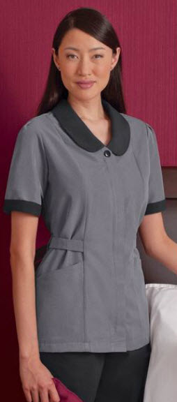 Microfiber Microcheck Housekeeping Tunic