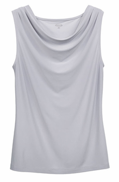 Ladies Nightclub Sleeveless Cowl-Neck Cocktail Blouse