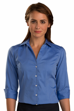 Ladies No-Iron Three Quarter Sleeve Server Blouse