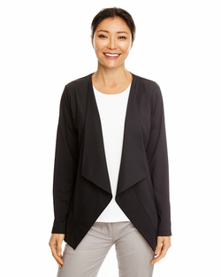 Ladies Perfect Fit Draped Open Blazer