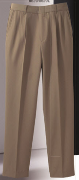 Ladies Pleated Washable Poly/Wool Pants