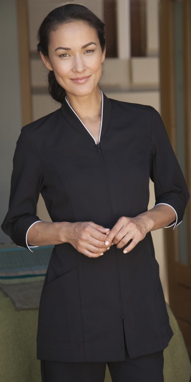 Ladies pravia spa tunic for Hotel uniform spa