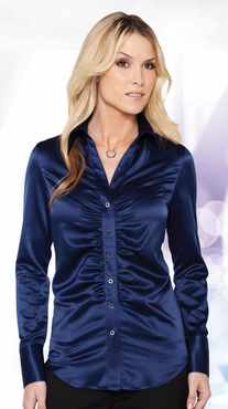 Ladies Satin Nightclub Blouse (Discontinued may NOT be returned or exchanged)