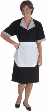 Ladies Spun Polyester Housekeeping Dress (Includes Apron Strings for Matching Tea Apron, Apron NOT Included) (Discontinued may NOT be returned or exchanged)
