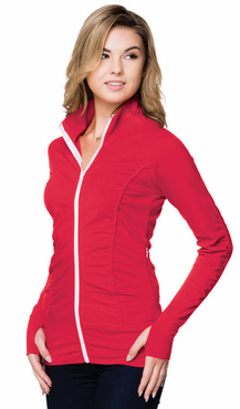 Ladies Stretch Knit Fitted Jacket