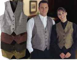 Ladies Swirl Brocade Vest
