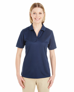 Ladies Textured Athletic Mesh Polo Shirt