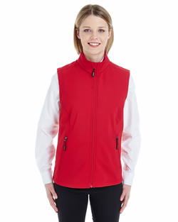 Ladies Two-Layer Fleece Bonded Soft Shell Vest