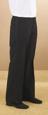 Ladies Value Polyester Flat Front Tuxedo Comfort Fit Pant