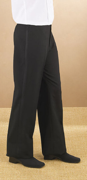 Ladies Value Polyester Low Rise Flat Front Tuxedo Pant