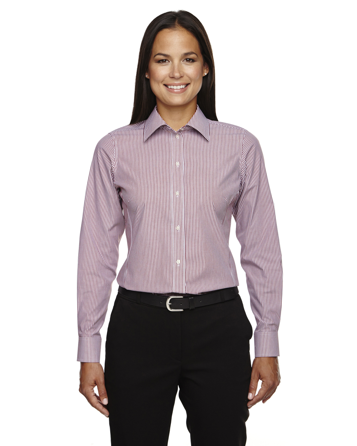 Ladies Striped Server Blousesharperuniforms