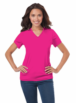 Ladies Waitress V-Neck Moisture Wicking T-Shirt