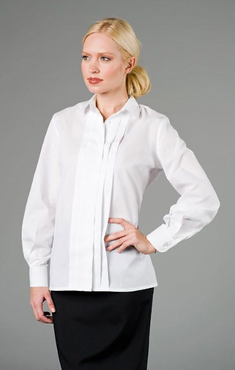 Ladies Waitress Wide Pleated Blouse