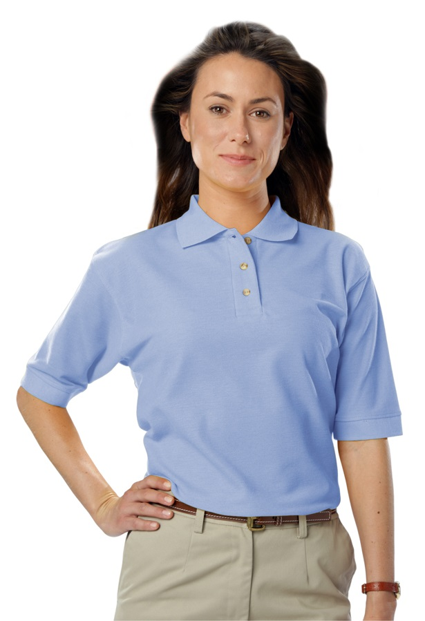 Ladies Waitstaff Teflon Protected Poly Cotton Polo Shirt 0a01a0963