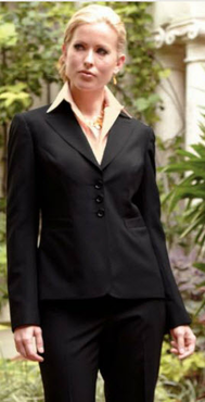 Ladies Washable Hotel Three Button Suit Jacket