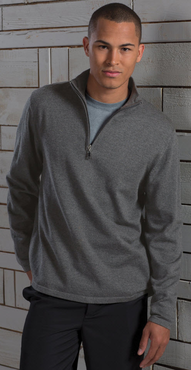 Men's Fine Gauge Quarter Zipper Sweater