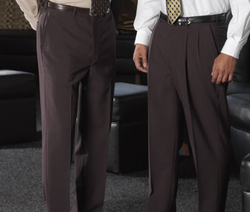 Men's Flat Front Poly/Wool Pant