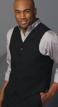 Men's High Button Poly/Wool Vest