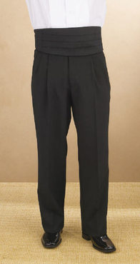 Men's Polyester Adjustable Pleated Tuxedo Pant