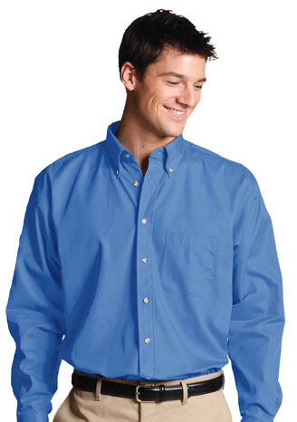 Men's Poplin Shirts Button Down Collar: SharperUniforms.com