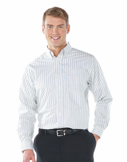 Men's Restaurant Double Stripe Poplin Shirt