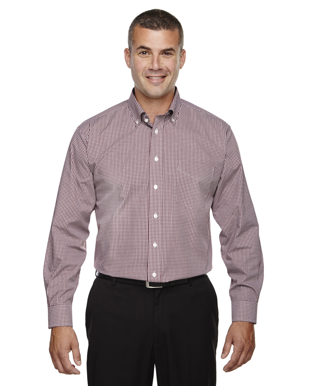 Men s no iron server shirt for Mens no iron dress shirts