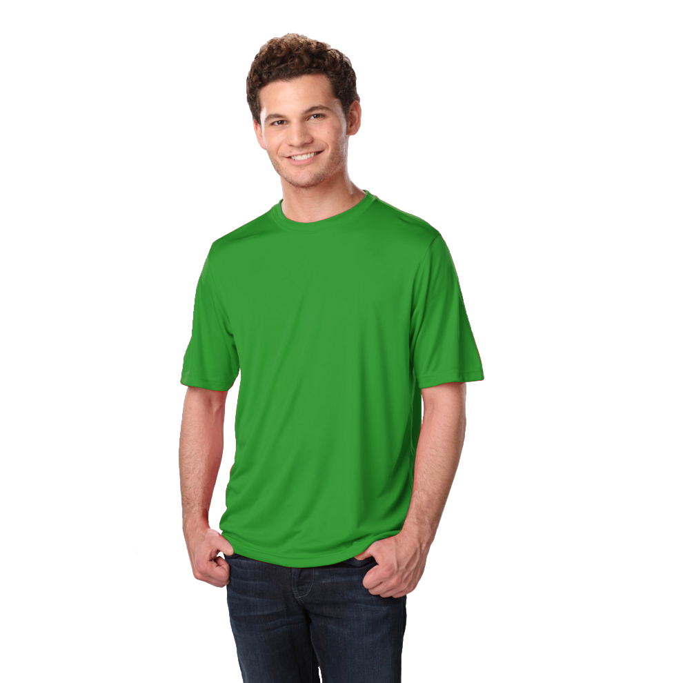 Men 39 s waiter crew neck moisture wicking t shirt for Sweat wicking t shirts