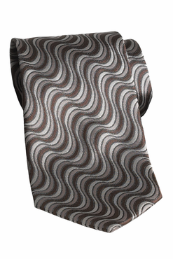 Rolling Waves Polyester Tie (Discontinued may NOT return or exchange)