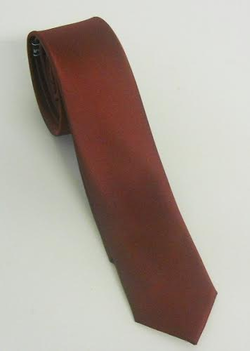 Server Two-Inch Skinny Polyester Tie with Satin Finish