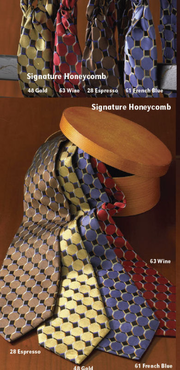 Signature Silk Honeycomb Men's Ties and Ladies Loop Ascots