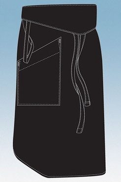 Tapered One Pocket Bistro Apron with Lapel Flap