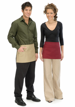 Three Pocket Waist Apron with Belt Buckle