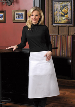 Three Quarter Center Divided Two Pocket Bistro Apron with Two Pencil Divides