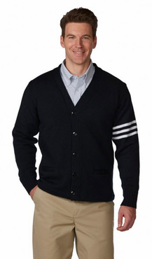 Unisex 5-Button V-Neck Varsity Cardigan
