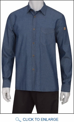 denim restaurant server shirt denim waiter shirt